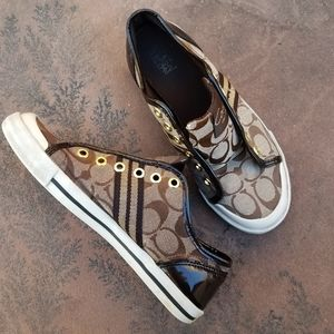 Coach Athentic Brown Folly Sneakers size 6.5